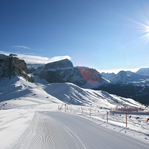 Lifts and slopes in Val di Fassa
